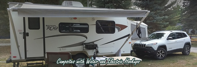 Campsites with Water and Electric Hookups